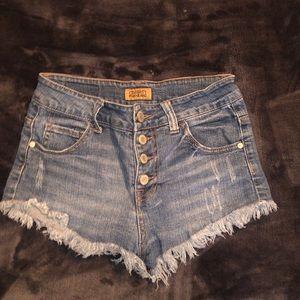 Celebrity Pink Denim Jean Cutoff Shorts